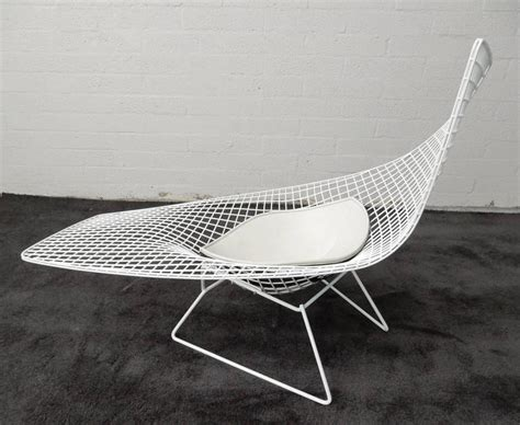 chaise bertoia knoll harry bertoia knoll asymmetric sculptural wire chaise lounge at 1stdibs