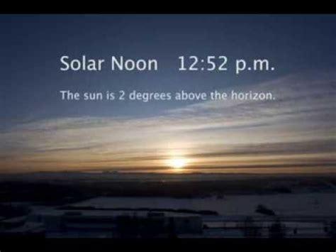 winter solstice arctic fairbanks alaska time lapse video
