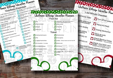 instant  ultimate disney world vacation planner kit