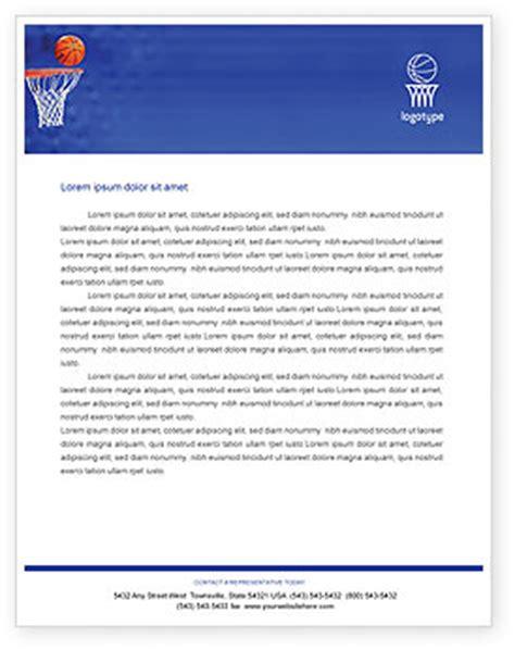 basketball match letterhead template layout  microsoft