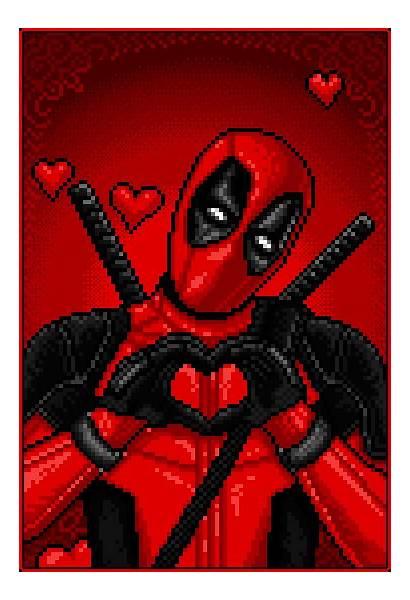 Deadpool Valentines Happy Pixel Valentine Marvel Unicorn