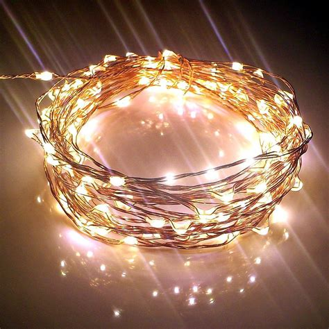 copper string lights starry string lights w 120 warm white leds on