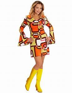 Typisch 70er Mode : groovy 70er jahre damenkost m mit geometrischen mustern ~ Jslefanu.com Haus und Dekorationen