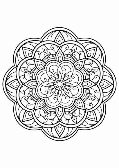 Mandala Coloring Adults Mandalas Patterns Pages Books