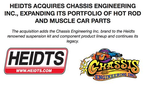 Heidts Hot Rod & Muscle Car Parts Acquires Chassis