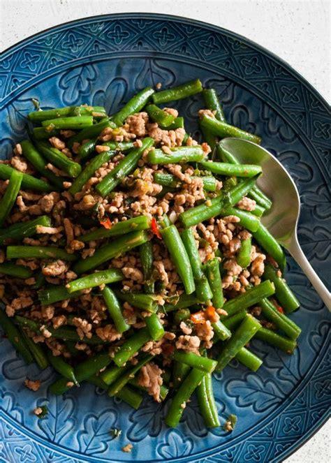 beans  pork mince stir fry recipetin japan