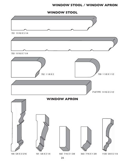 Window Sill Profiles by Window Apron Moulding The Pioneer Millwork Moulding