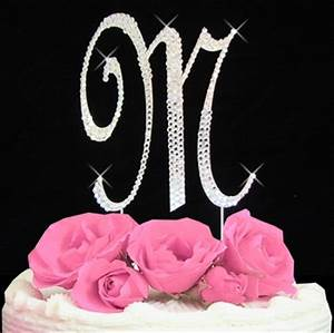 initial m cake topper letter m fully covered in With letter m cake topper