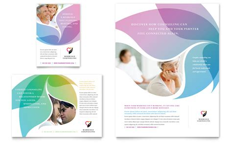 Counseling Brochure Templates Free by Marriage Counseling Flyer Ad Template Word Publisher
