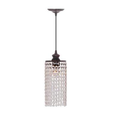 home decorators collection shimmer 1 light clear pendant
