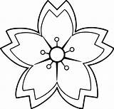 Coloring Flower Sakuras Pages Wecoloringpage sketch template