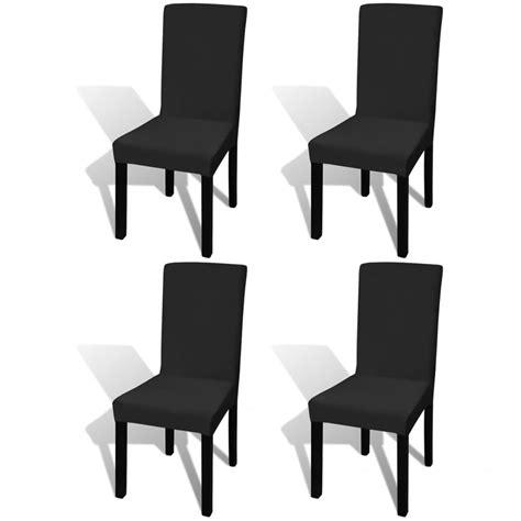 housse de chaise noir acheter vidaxl housse extensible de chaise 4 pièces noir