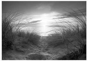 Tischläufer Schwarz Weiß : fototapete strand schwarz wei meer landschaften fototapeten ~ Frokenaadalensverden.com Haus und Dekorationen