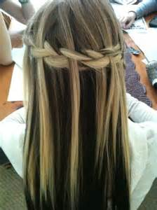 Hairstyle Waterfall Braid with Straight Hair