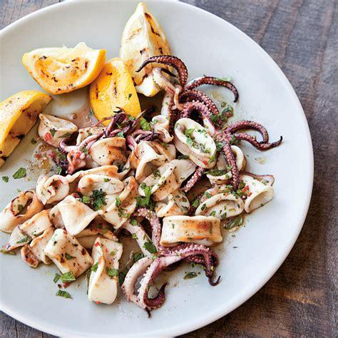 quick grilled squid salad williams sonoma taste