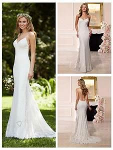 dreamatic spaghetti straps low back sheath wedding dress With sheath wedding dress low back