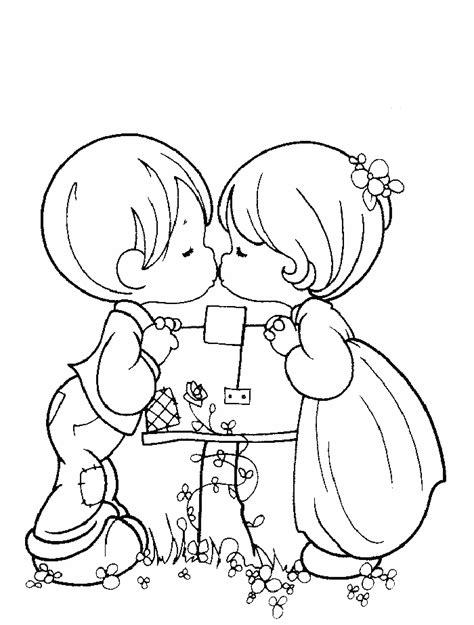 dibujos de san valentin  colorear  imprimir