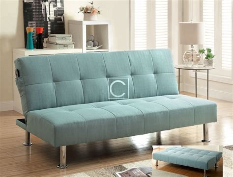 fabric futon sofa bed dewey contemporary blue flax fabric futon sofa bed
