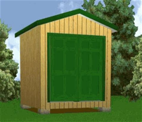 8x8 storage shed plans package blueprints material list