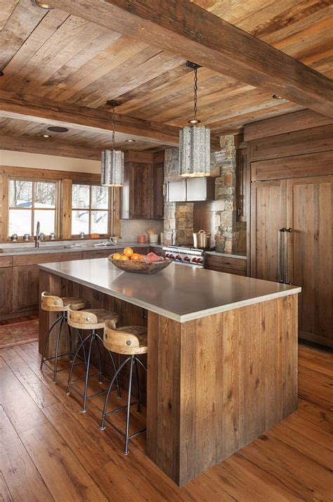 9 Of Our Favorite Rustic Kitchens With Exposed Wood Beams