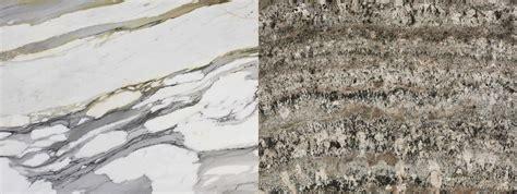 granite vs marble granite and quartz countertop in