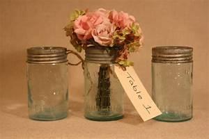 Vintage, Mason, Jars, For, Wedding, Reception, Centerpieces