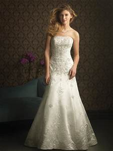 ivory strapless embroidery beaded formal unique wedding With ivory wedding dress