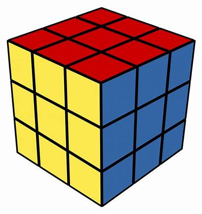 Clipart Cube 3d Rubix Cliparts Shape Clip