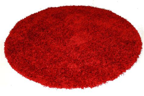 What Is A Viscose Rug by Rond Vloerkleed 160 Cm Rood Spectrum