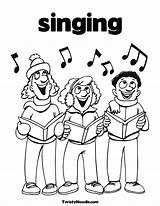 Coloring Singing Pages Singer Colouring Sing Popular Getdrawings Children Coloringhome sketch template