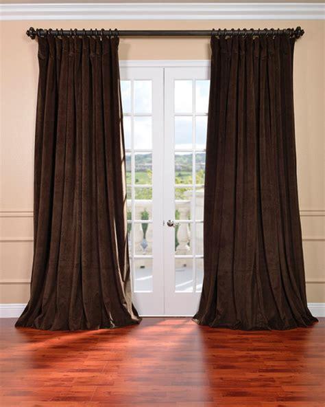 java velvet blackout wide curtain panel