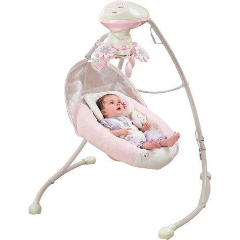 fisher price swing fisher price my snugabear cradle n swing walmart