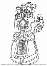 Gauntlet Infinity Avengers Thanos Marvel Coloring Draw War Learn Iron Drawing Fortnite Drawings Colorear Step Dibujos Colorir Superhero Endgame Ausdrucken sketch template