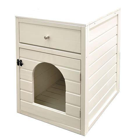 maison de toilette chat maison de toilette chat canasta 58 x 45 x 60 cm blanc 2502 achat vente niches chat sur