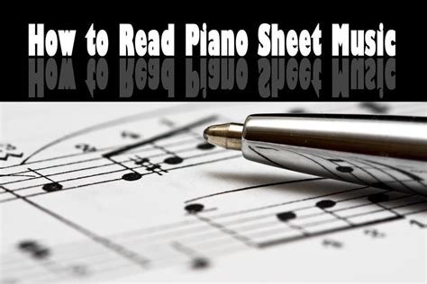 read piano sheet  step  step instructions