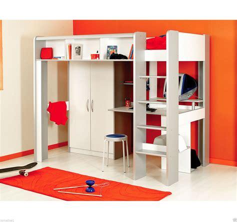 Hochbett Mit Kleiderschrank by Kinderbett Hochbett Mit Treppe Kleiderschrank Schreibtisch