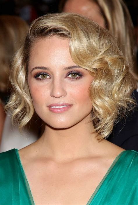 sexy layered short hairstyle  dianna agron hairstyles weekly