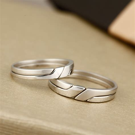 interlocking infinity promise rings  couples polished