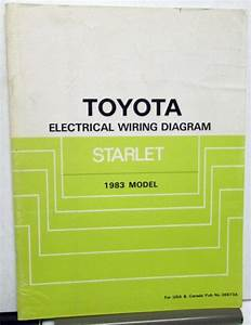 1983 Toyota Starlet Electrical Wiring Diagram Service
