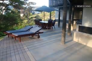 composite deck install composite deck over concrete