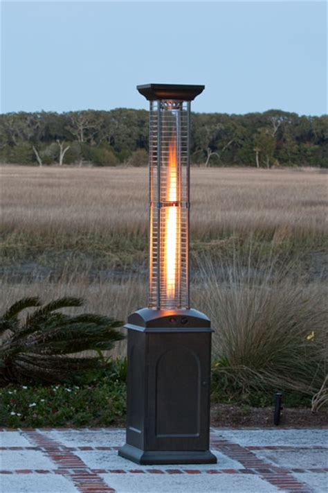 fire sense square flame propane gas patio heater with