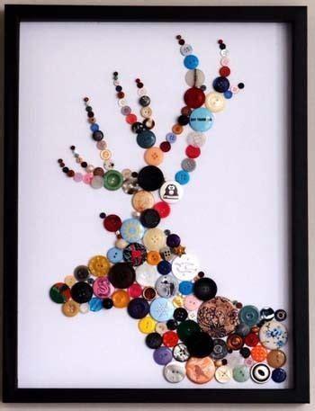 bricolage faire une d 233 co murale avec des boutons couture et bricolage