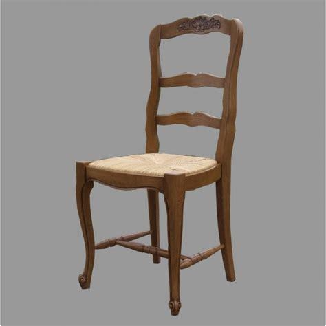 chaise en chene chaise régence n 2 en chêne et paille meubles de normandie