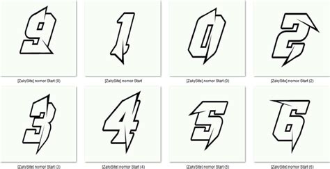 Gambar Kumpulan Desain Nomor Start Berkarya Batas Elvoust
