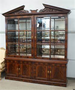 137a henredon natchez collection mahogany breakfront