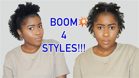 4 easy natural hairstyles for short 4c natural hair