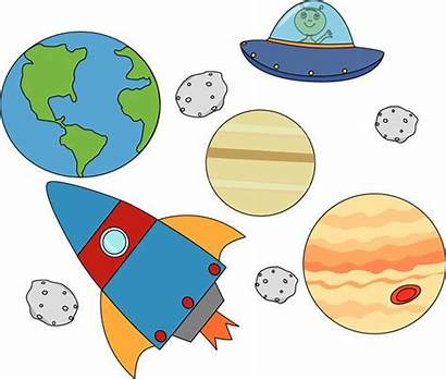 Space Rocket Clip Clipart Ufo Outerspace Planets