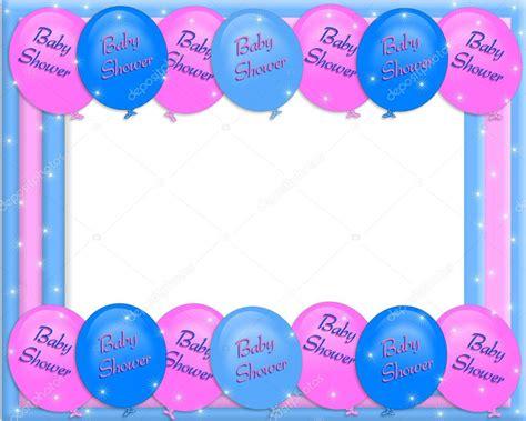 baby shower invitation border balloons stock photo