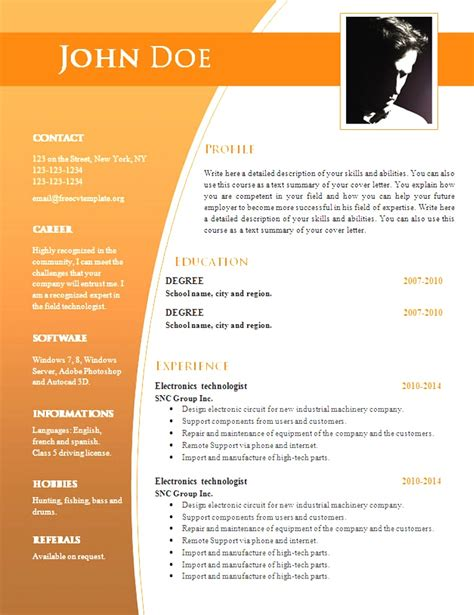 20068 free resume design templates modern free word doc resume templates free word