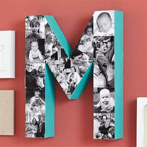 10 photo projects and products sure to make your mom smile With wooden letter photo collage